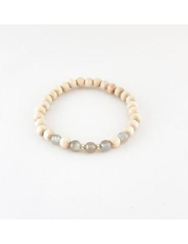 Bracelet Wood & Stone...