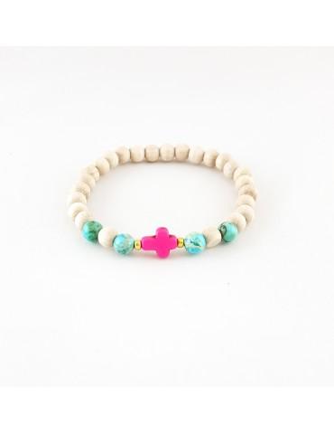 Bracelet Wood & Stone Jaspe