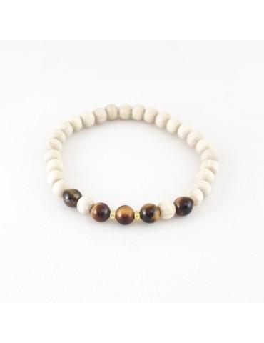 Bracelet Wood & Stone Œil...