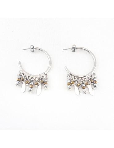 Boucles d'oreilles Serena silver bronze
