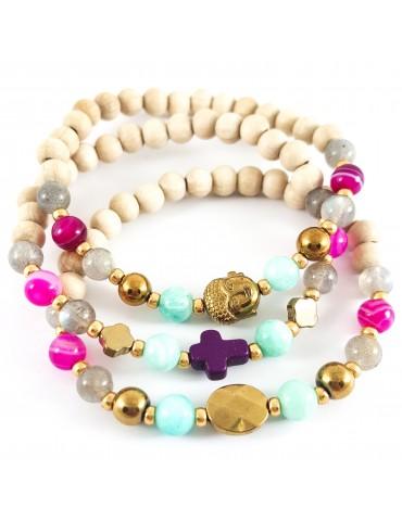 Bracelet Triade fuschia