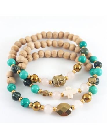 Bracelet Triade turquoise