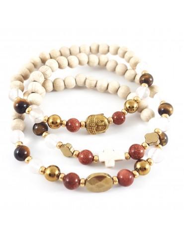 Bracelet Triade Gold stone