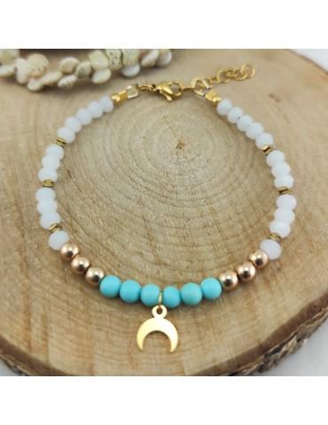 Bracelet Luna Howlite turquoise