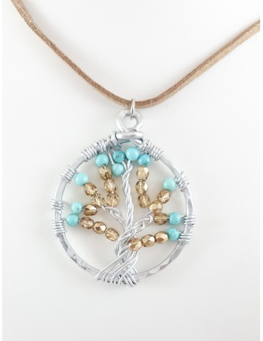 Collier Tree turquoise