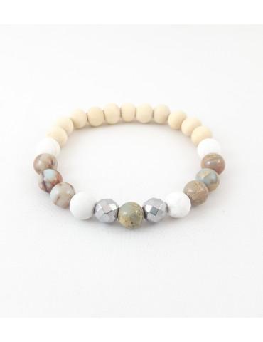 Bracelet Wood and Stone